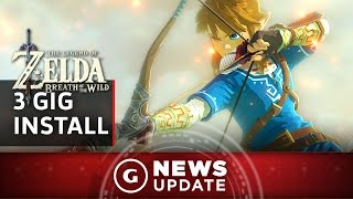 On Wii U Zelda: Breath of the Wild Has a 3 GB Install - GS News Update