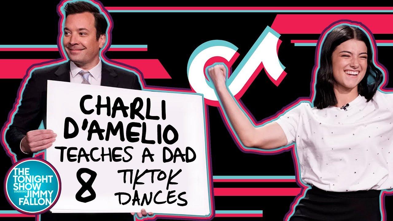 Charli D'Amelio Teaches a Dad 8 TikTok Dances thumbnail