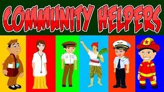 Community Helpers for Kindergarten | Occupations VIdeo | Kid2teentv