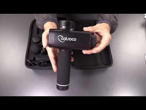 Massagepistole - Vibrationsgerät - Akku - 5 Geschwindigkeiten - 4 Massageköpfen
