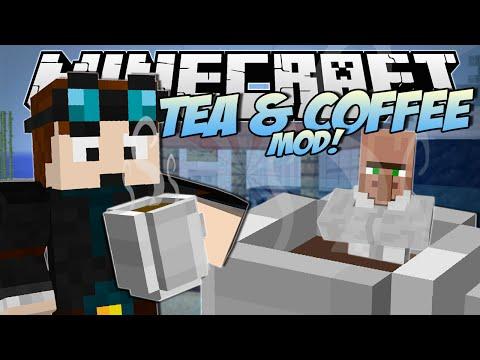 Minecraft | TEA & COFFEE MOD! (Beverage Stand Challenge!) | Mod Showcase