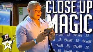 Card Magician Does CLOSE-UP Magic With Judges on Got Talent Uruguay | Magicians Got Talent
