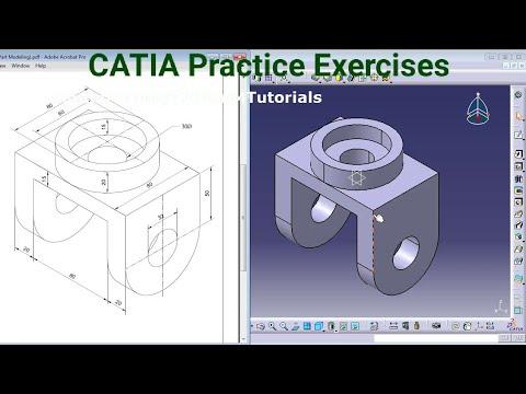 CATIA Training Course Exercises for Beginners - 4 | CATIA V5 Part ...