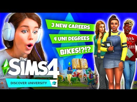 BIKES!? 3 NEW CAREERS!? 😱 - The Sims 4: Discover University Reaction!