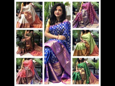 Banarasi Silk weaving Sarees with broad border