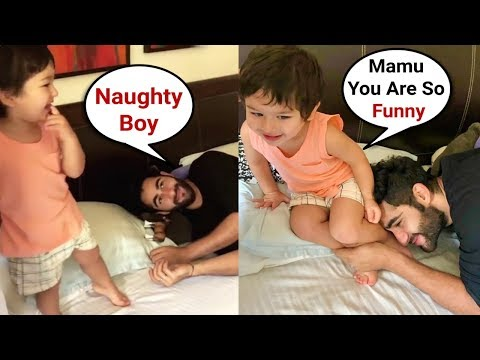 Taimur Ali Khan Playing With Mamu Armaan Jain