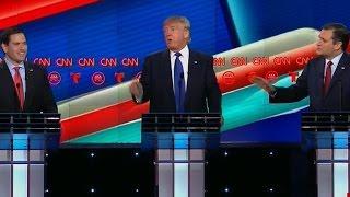 Rubio and Cruz rip Trump in nastiest debate yet