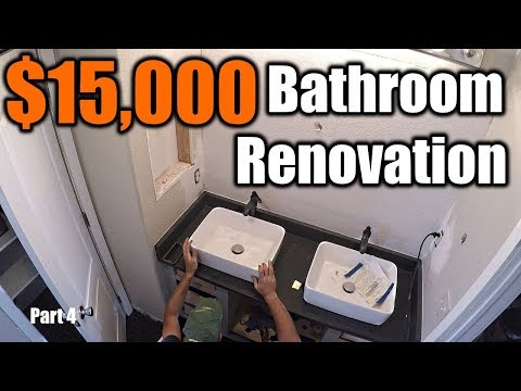$15,000 Modern Bathroom Renovation 4   THE HANDYMAN  