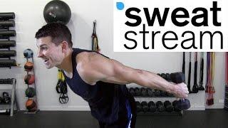 20 Minute Intense Dumbbell Workout w/ Relentless Jake by SweatStreamTV