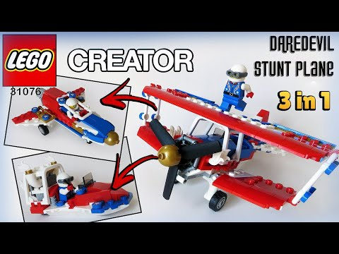 New Lego Creator Daredevil Stunt Plane Set 31076 Animation And Speed