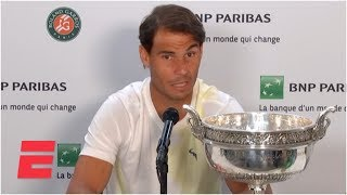 Rafael Nadal press conference: Roger Federer, injuries, and more | 2019 French Open
