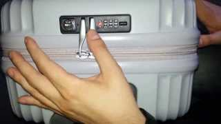 How to set or change Lojel TSA combination lock