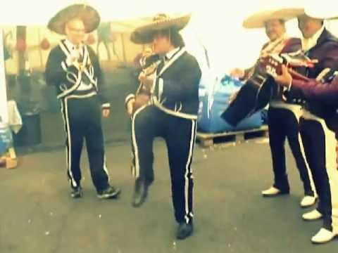 Jack Black jamming with The Mariachis London UK