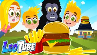 El Burger 🍔 de la Familia Tube  Leotube Cartoons