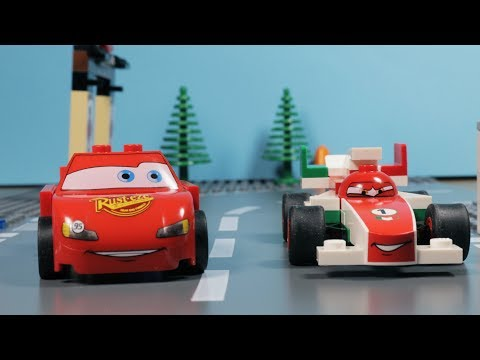 Lego Disney Cars - Why Did Lightning McQueen Mater And Sarge Have A Car Accident?
