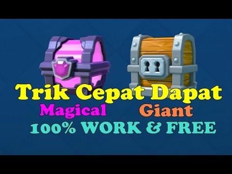 Video Trik Agar Cepat Dapat Magical + Giant Chest (100% Free) - Clash Royale Indonesia #14