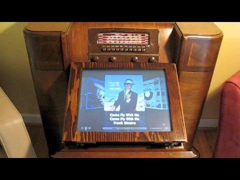 1942 Philco Radio <strike>Violated</strike> Upgraded Into Mac Mini Media Centre