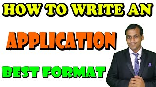 How to Write an Application in English|| Best letter writing Trick