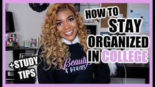 HOW TO STAY ORGANIZED IN COLLEGE + STUDY TIPS || BrelynnBarbie