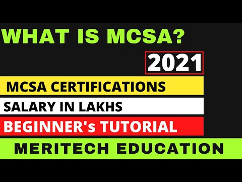 What is MCSA? MCSA Certification Cost, Salary and ... - YouTube
