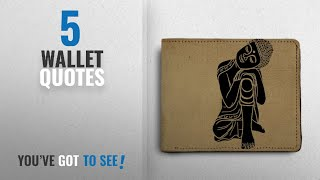 Top 10 Wallet Quotes [2018]: ShopMantra Life Quote Printed Canvas Leather Wallet for Men's