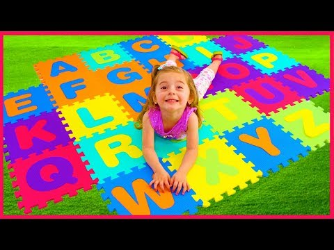 ABC Song | Helena Pretend Play Learning Alphabet w Toys & Nursery Rhyme Songs Compilation
