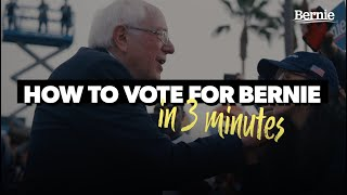 How to Vote for Bernie in California (in 3 minutes)