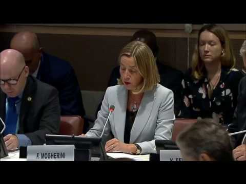 Mogherini's speech on Protecting Cultural Heritage from Terrorism and Mass Atrocities
