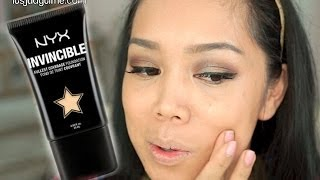 NYX Invincible Fullest Coverage Foundation first impression review - itsjudytime