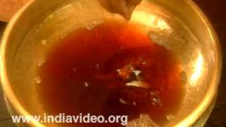 Preparation of Ghruta, the Ayurvedic ghee