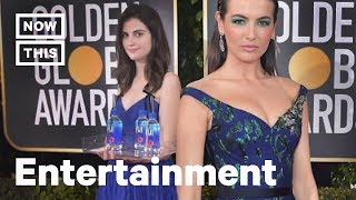 Fiji Water Girl is the Real Star of the 2019 Golden Globes | NowThis