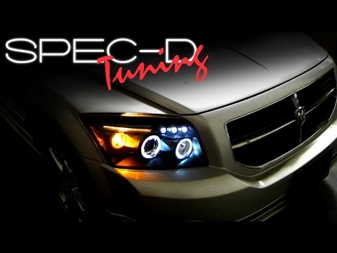 SPECDTUNING INSTALLATION VIDEO: 2006-2010 DODGE CALIBER PROJECTOR HEAD LIGHTS