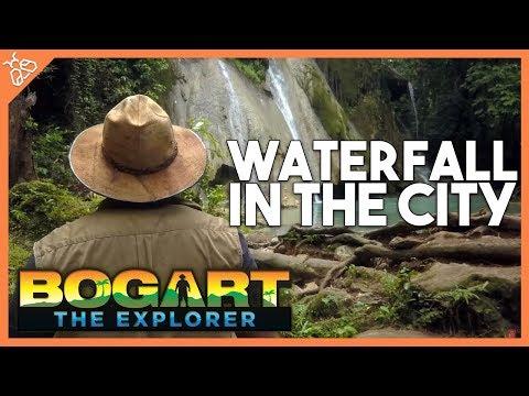 WATERFALL IN THE CITY! (Filipino Travel w/ Bogart the Explorer)