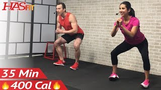 35 Min At Home Butt and Thigh Workout No Equipment - Leg Workout for Women & Men by HASfit