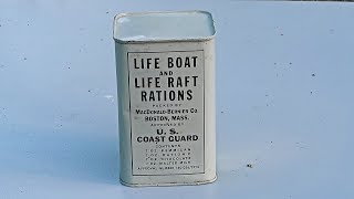 US Coast Guard Lifeboat Ration from 1950s