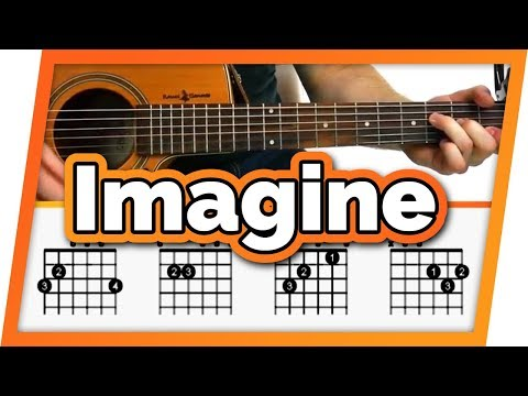 Imagine Guitar Tutorial (John Lennon) Easy Chords Guitar Lesson