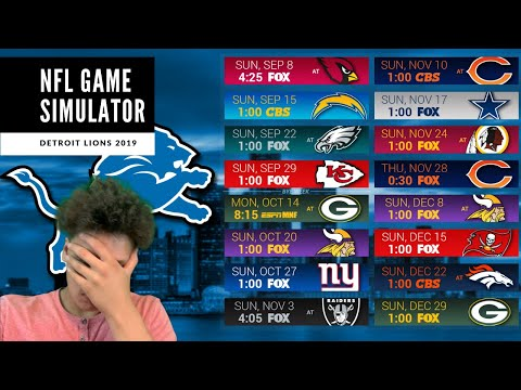 PredictingThe Lions Record! With a GAME SIMULATOR! Detroit Lions Talk