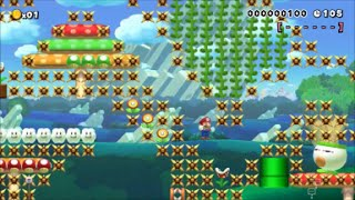 【Super Mario Maker】クリア率0%(0/58247)超鬼畜精密スピードランコースに挑戦【マリオメーカー】