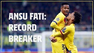 ⚽ Ansu Fati's record breaking Champions League goal against Inter