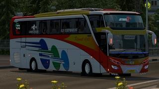 Kramat djati SHD || ETS2 bus mod indonesia