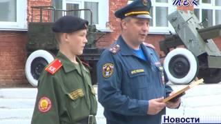 Бердского кадета наградил начальник главного управления МЧС России по Новосибирской области