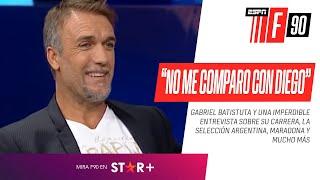 """Gabriel Batistuta, en FOX Sports: """"El récord no me lo va a batir un terrestre"""""""