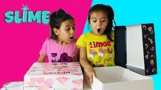 Kutudan Ne Çıkarsa Slime Challenge!! - MYSTERY BOX SLIME SWITCH-UP CHALLENGE !!!