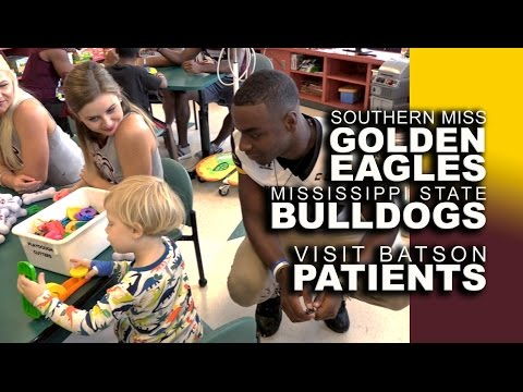 Video: MSU, Southern Miss score with Batson Children's Hospital patients