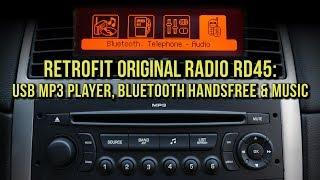 Retrofit Radio RD45 - USB mp3 player, Bluetooth handsfree, Bluetooth music, in a single unit