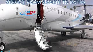 Hire Air Ambulance Service from Ranchi to Patna by Hifly ICU