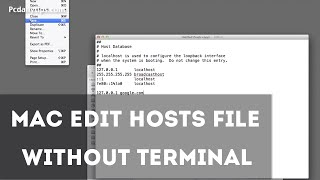 Open Hosts File on Mac Without Terminal