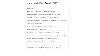 How to load data from json file in php