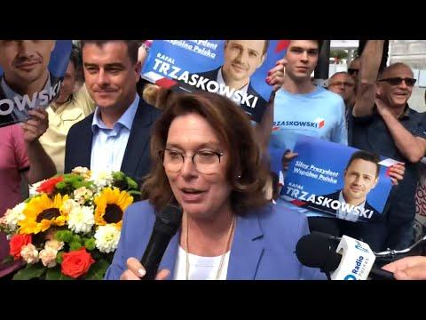 Wideo1: Małgorzata Kidawa-Błońska w Lesznie. Na Rynku zwolennicy Rafała Trzaskowskiego i Andrzeja Dudy