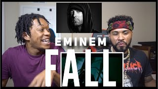 THE GOAT IS SICK OF IT!!! Eminem - Fall (Official Video) REACTION